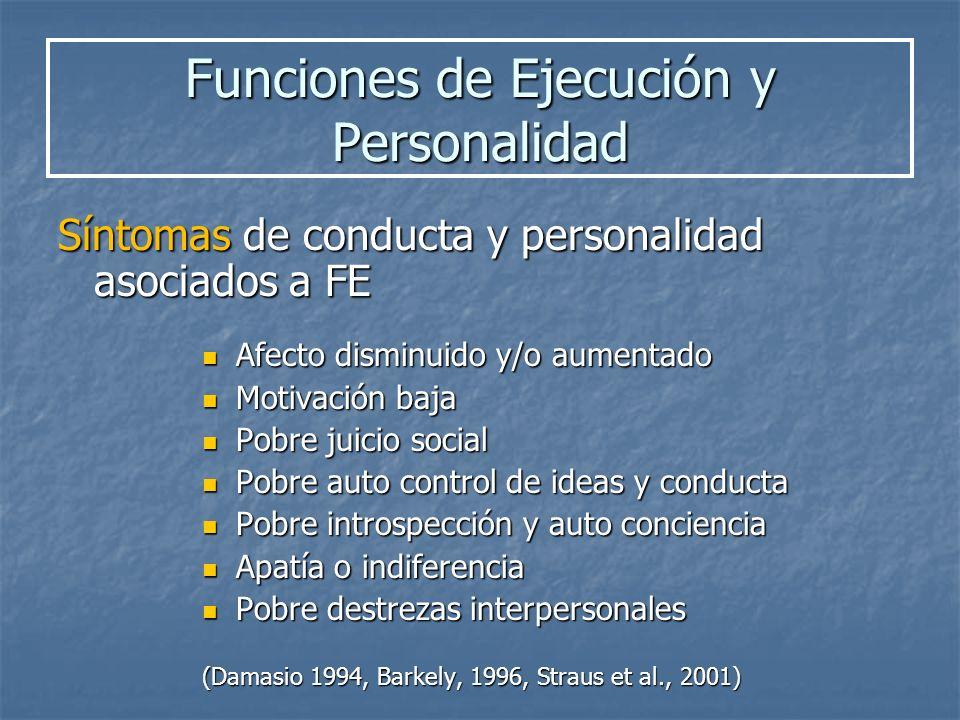 Funciones de Ejecución y Personalidad
