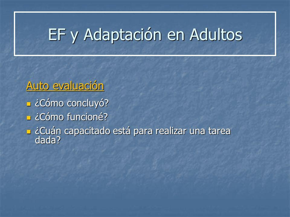 EF y Adaptación en Adultos