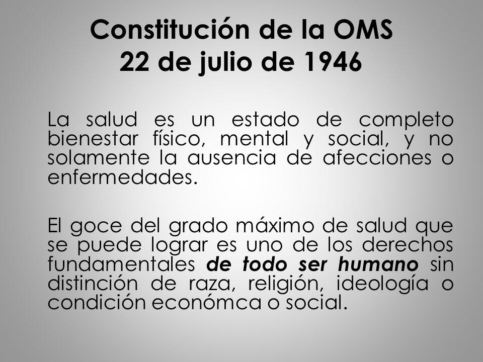 Constitución de la OMS 22 de julio de 1946