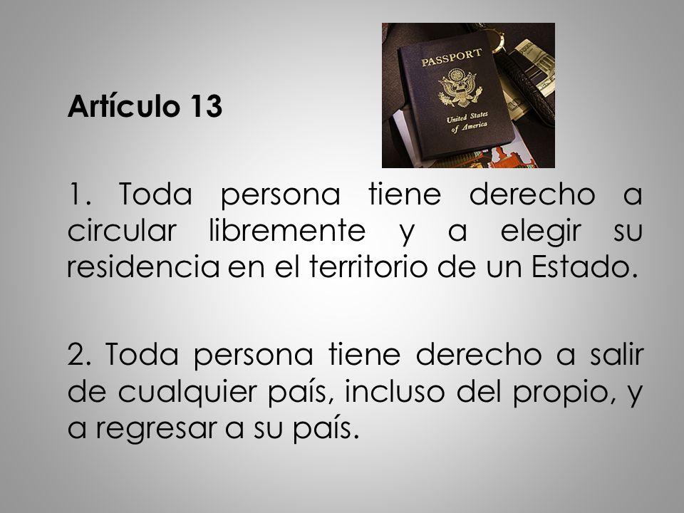 Artículo 13 1.