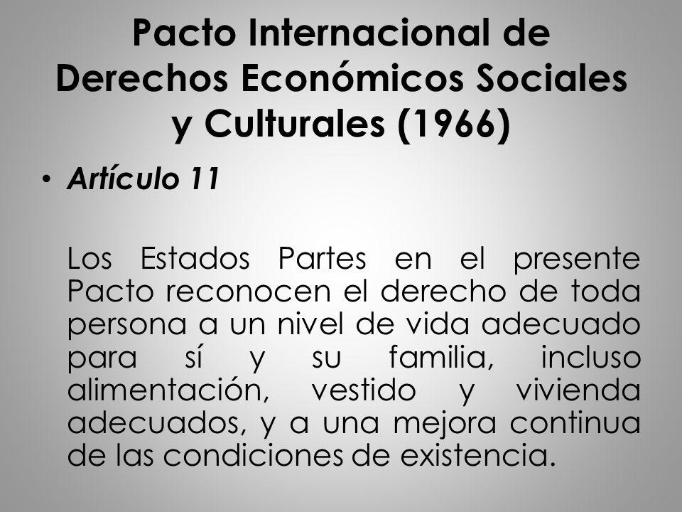 Pacto Internacional de Derechos Económicos Sociales y Culturales (1966)