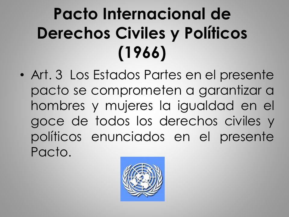 Pacto Internacional de Derechos Civiles y Políticos (1966)