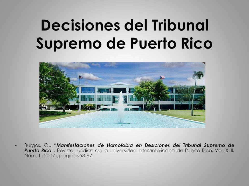 Decisiones del Tribunal Supremo de Puerto Rico