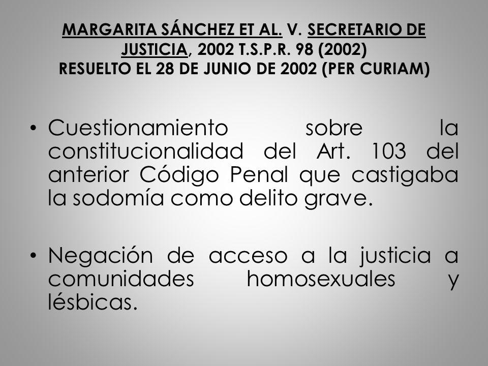 MARGARITA SÁNCHEZ ET AL. V. SECRETARIO DE JUSTICIA, 2002 T. S. P. R