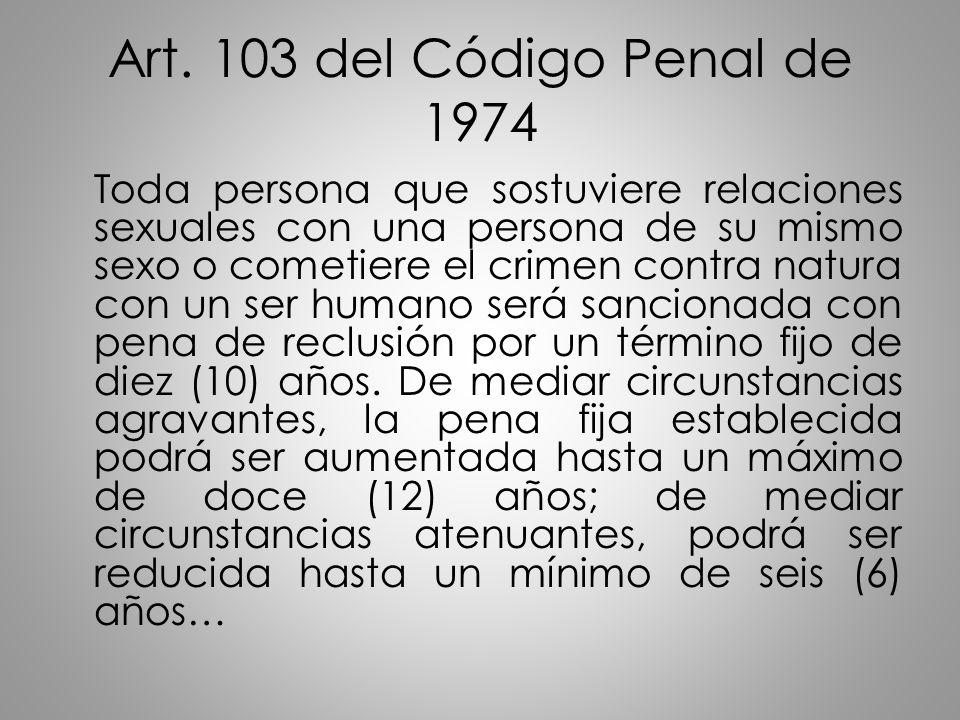 Art. 103 del Código Penal de 1974