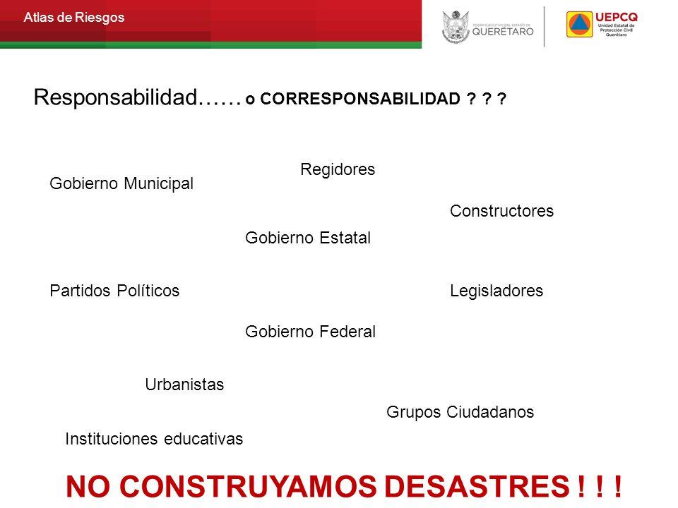 NO CONSTRUYAMOS DESASTRES ! ! !