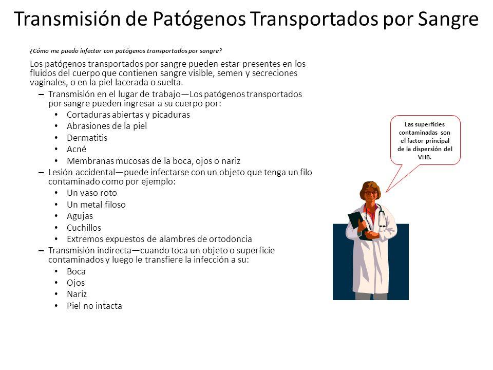 Transmisión de Patógenos Transportados por Sangre