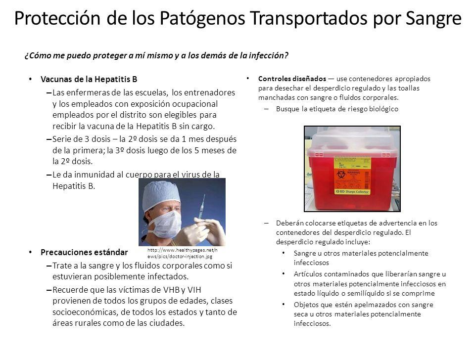Protección de los Patógenos Transportados por Sangre