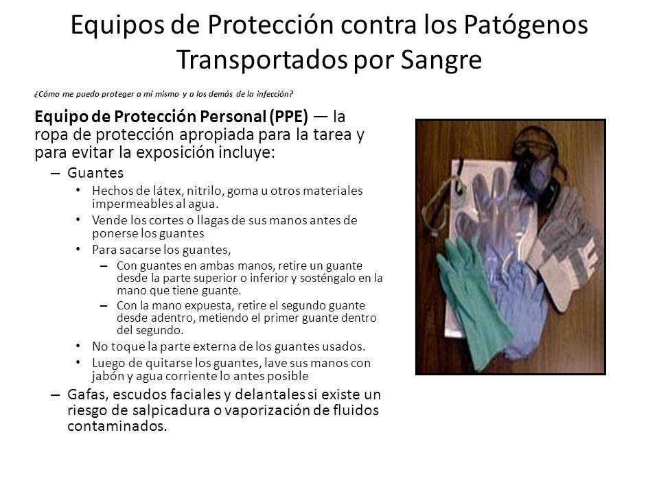Equipos de Protección contra los Patógenos Transportados por Sangre