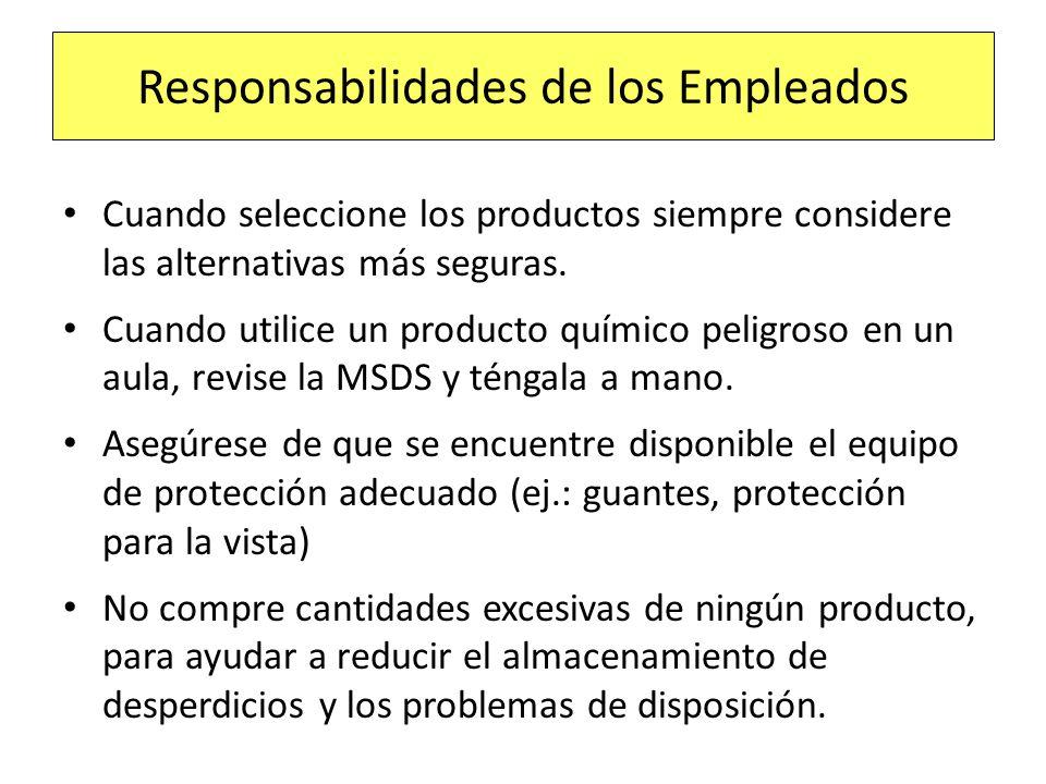 Responsabilidades de los Empleados