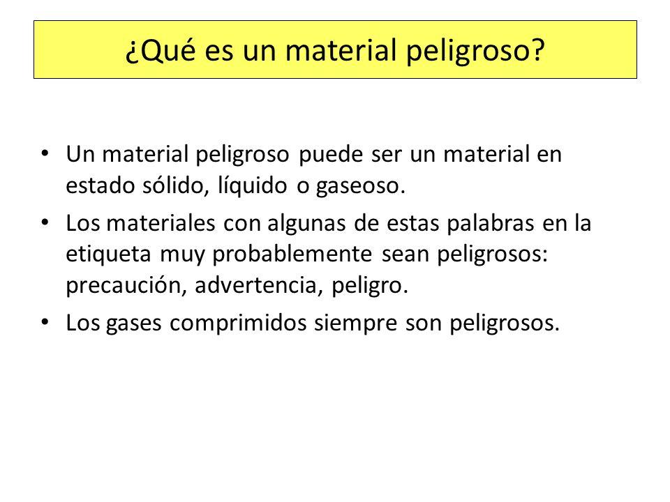 ¿Qué es un material peligroso