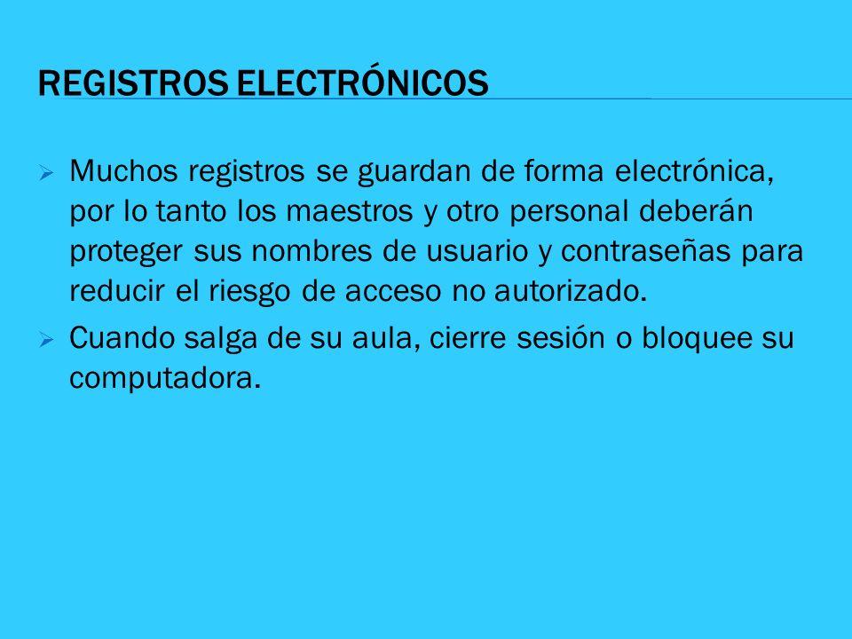 REGISTROS ELECTRÓNICOS