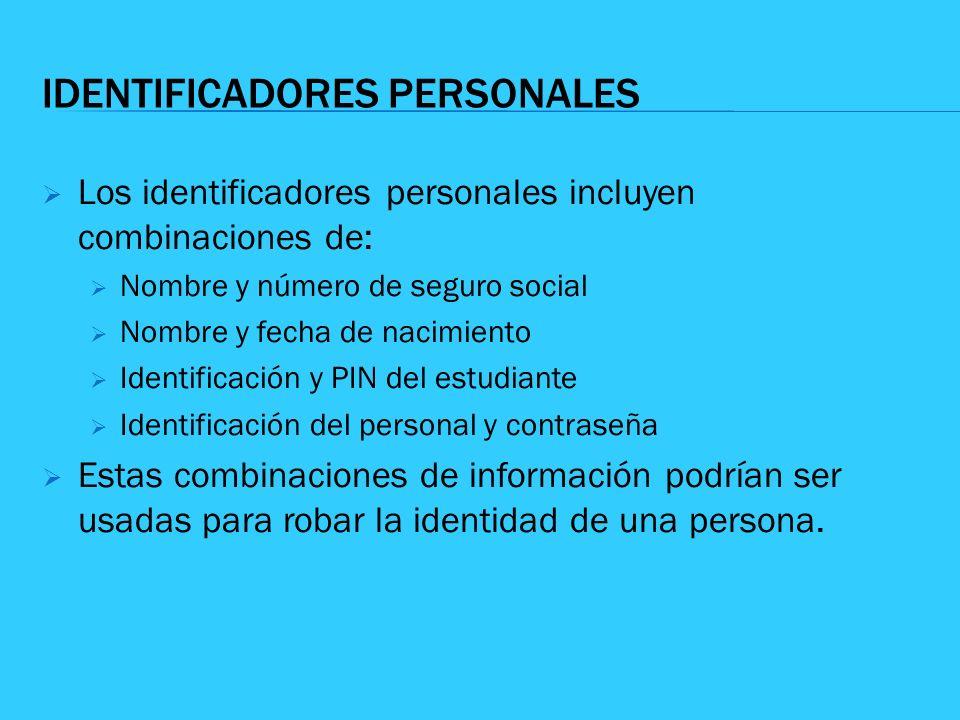 IDENTIFICADORES PERSONALES