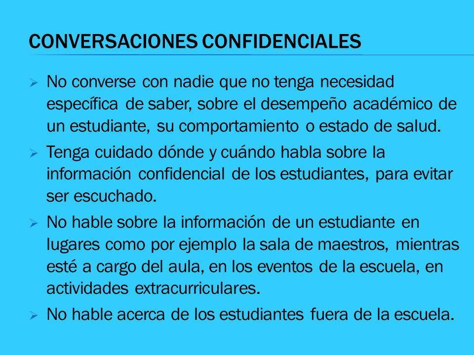 CONVERSACIONES CONFIDENCIALES