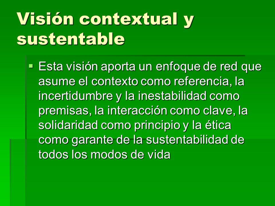 Visión contextual y sustentable