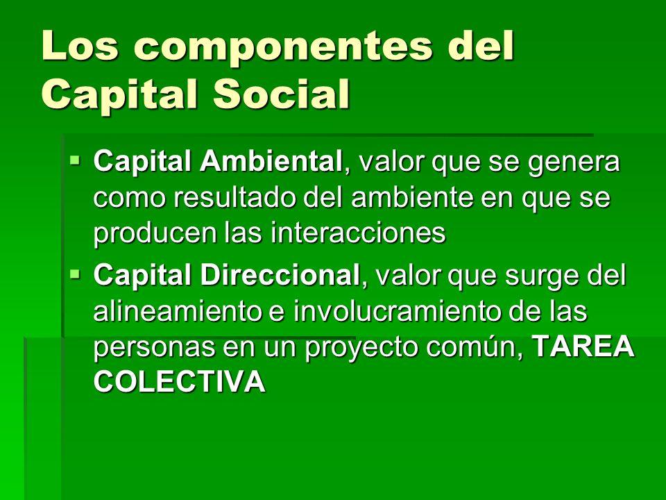 Los componentes del Capital Social