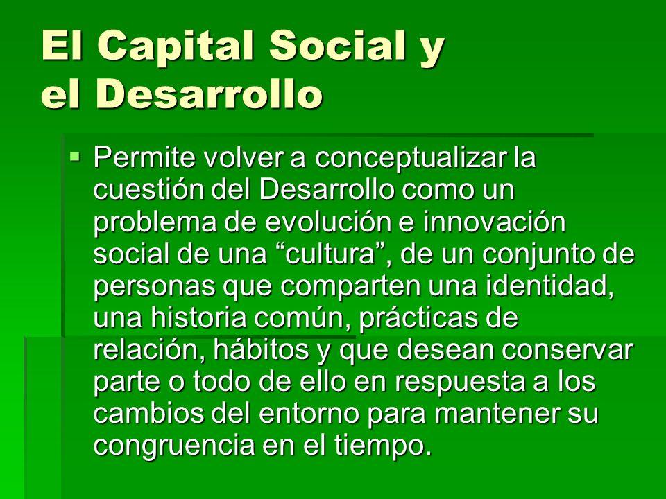 El Capital Social y el Desarrollo