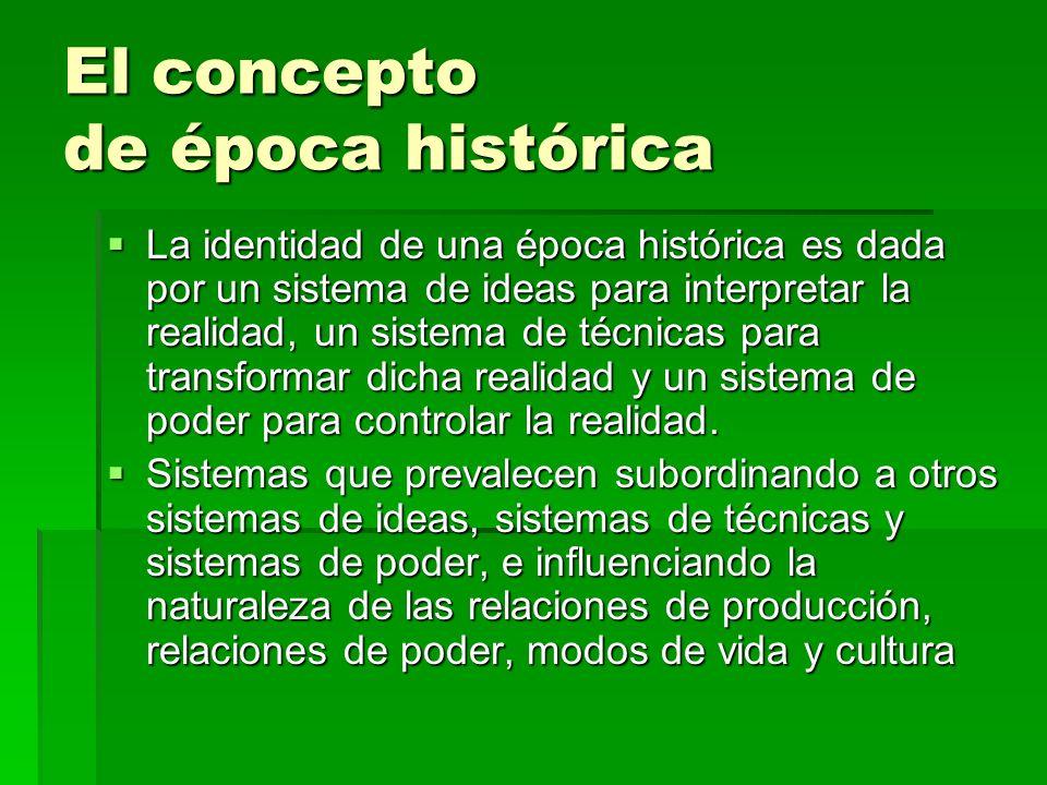 El concepto de época histórica