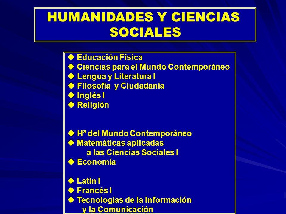 HUMANIDADES Y CIENCIAS