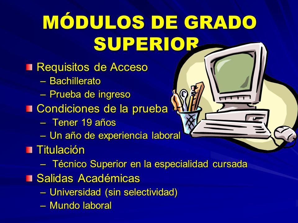 MÓDULOS DE GRADO SUPERIOR
