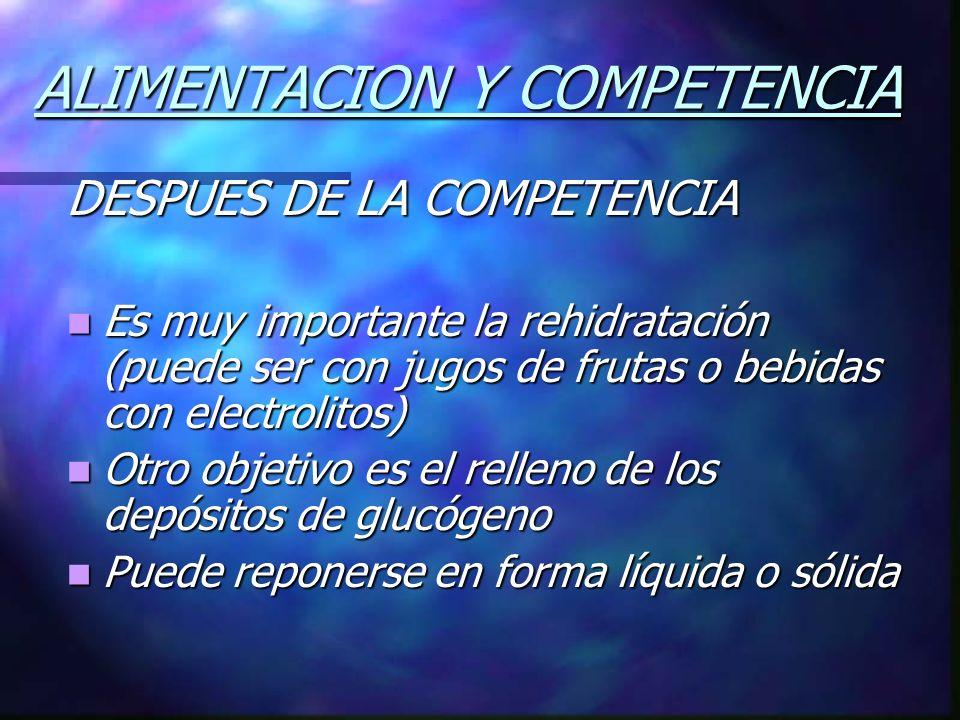 ALIMENTACION Y COMPETENCIA