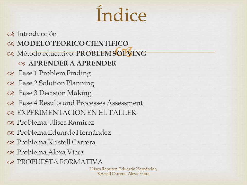 Ulises Ramirez, Eduardo Hernández, Kristell Carrera, Alexa Viera