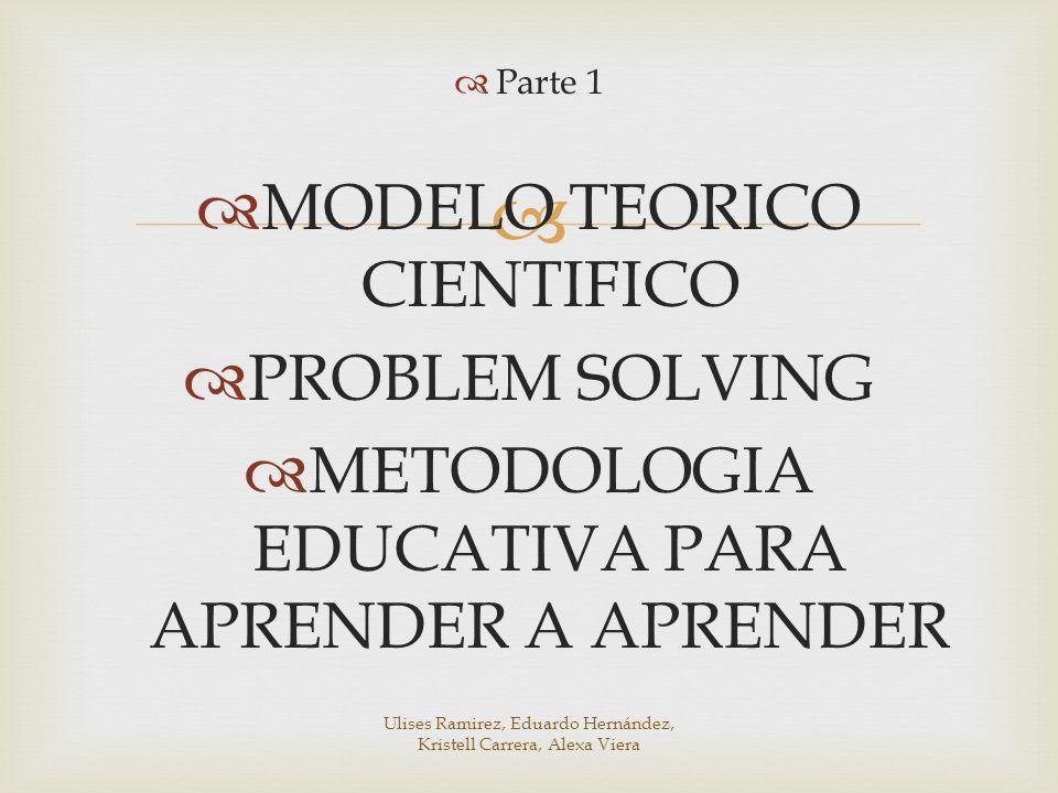 MODELO TEORICO CIENTIFICO PROBLEM SOLVING