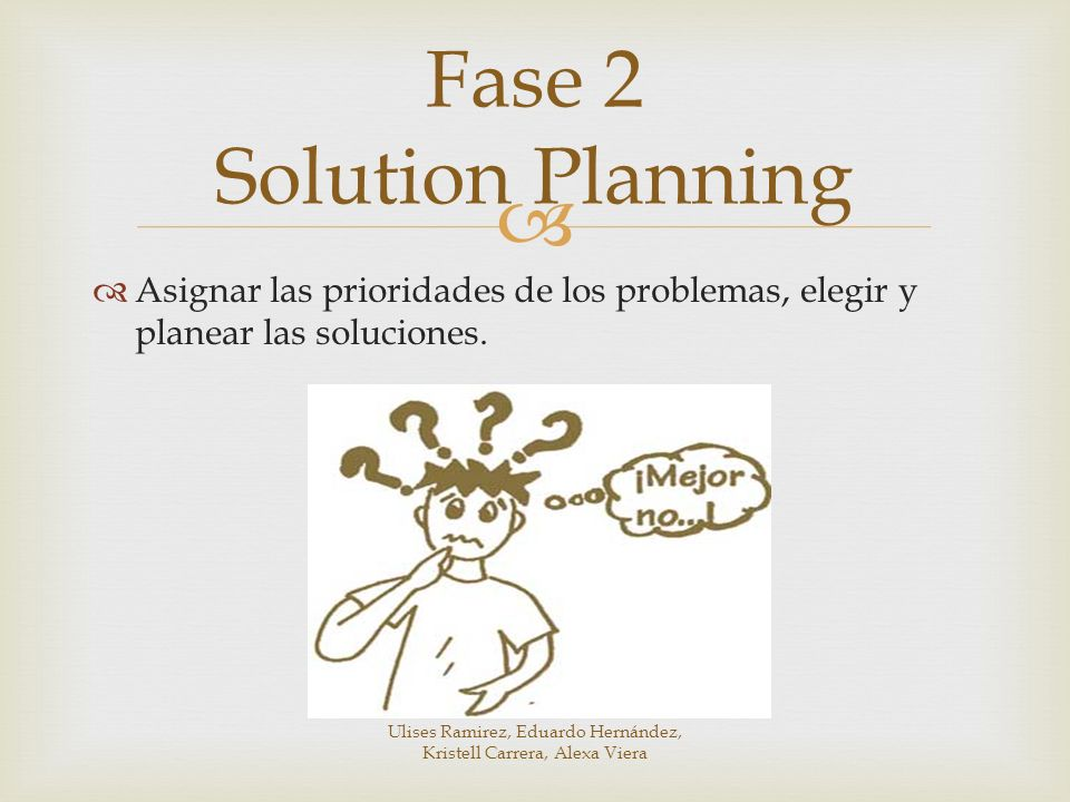 Fase 2 Solution Planning