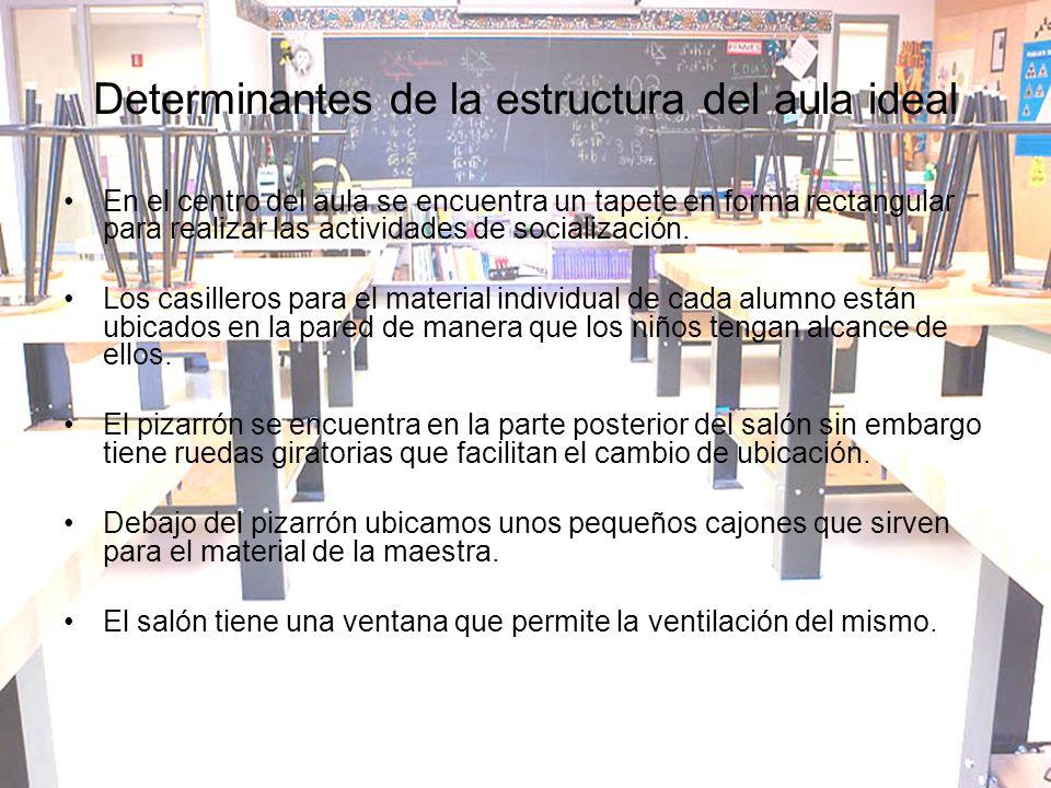 Determinantes de la estructura del aula ideal