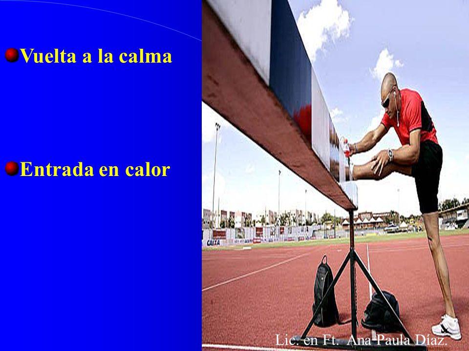 Vuelta a la calma Entrada en calor Lic. en Ft. Ana Paula Díaz.