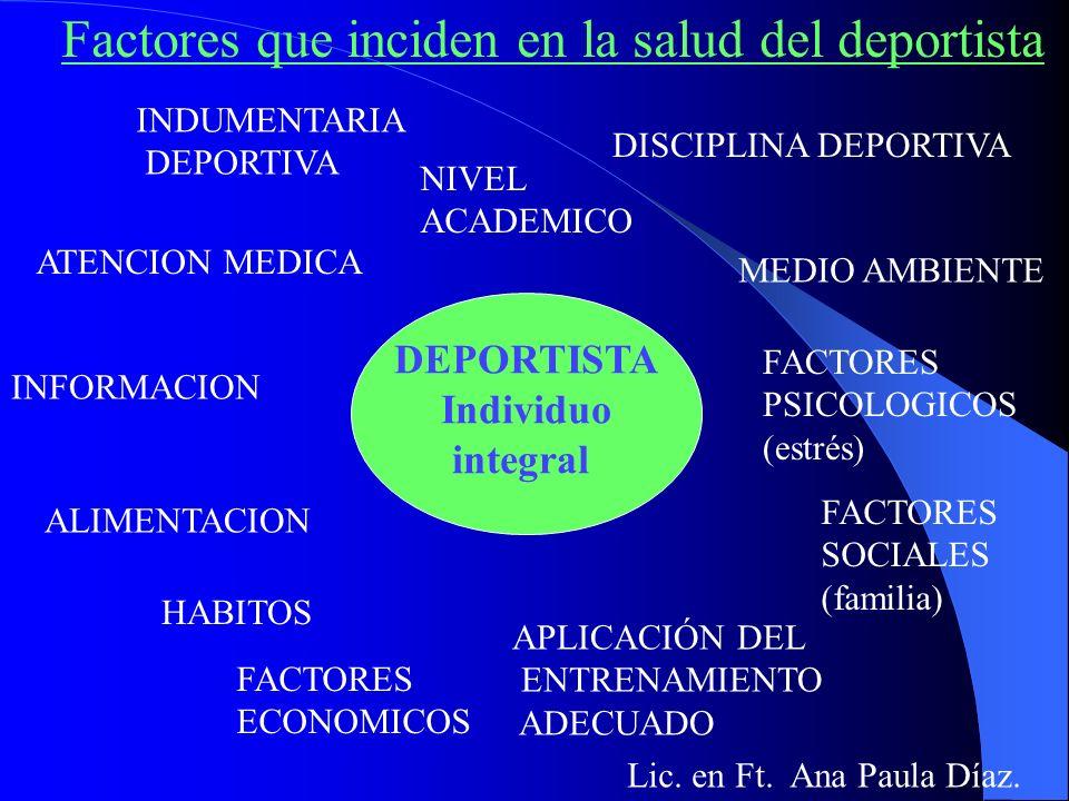 Factores que inciden en la salud del deportista