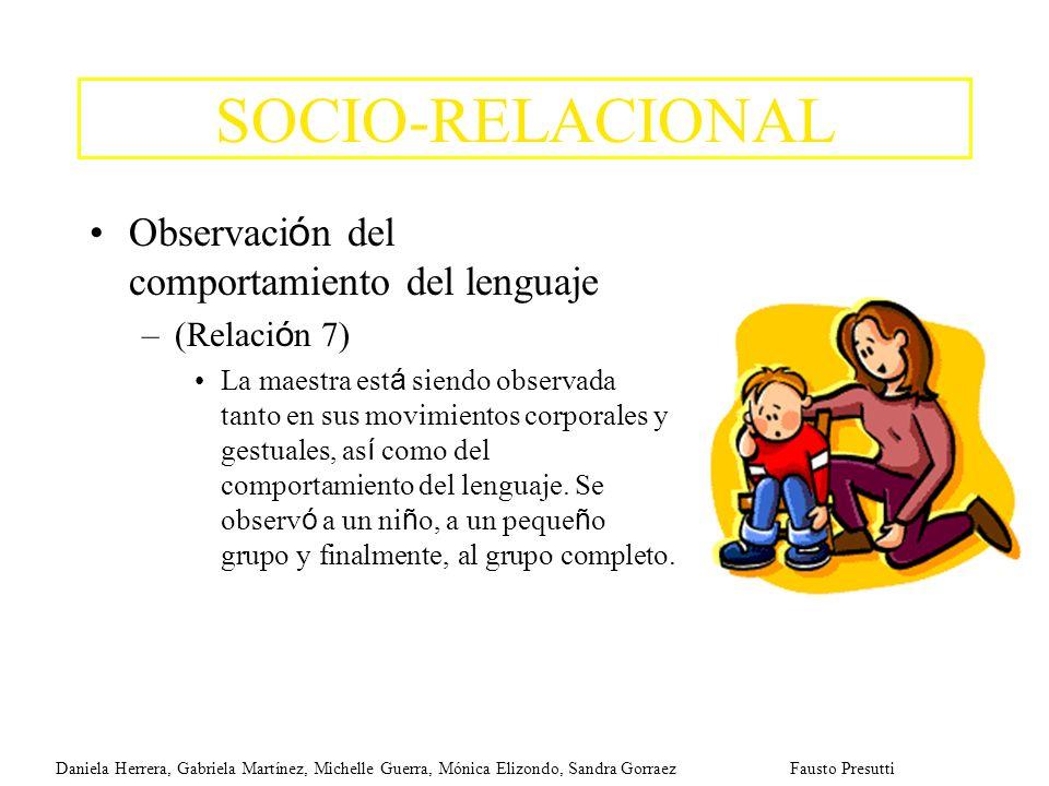 SOCIO-RELACIONAL Observación del comportamiento del lenguaje