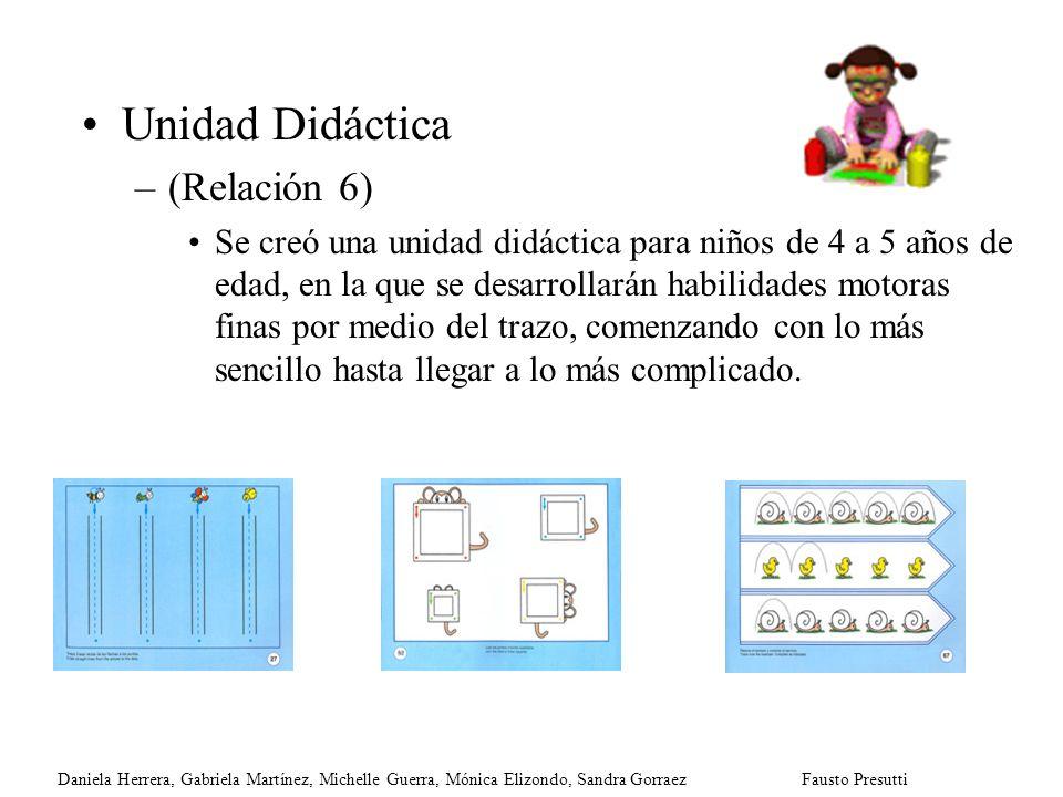 Unidad Didáctica (Relación 6)