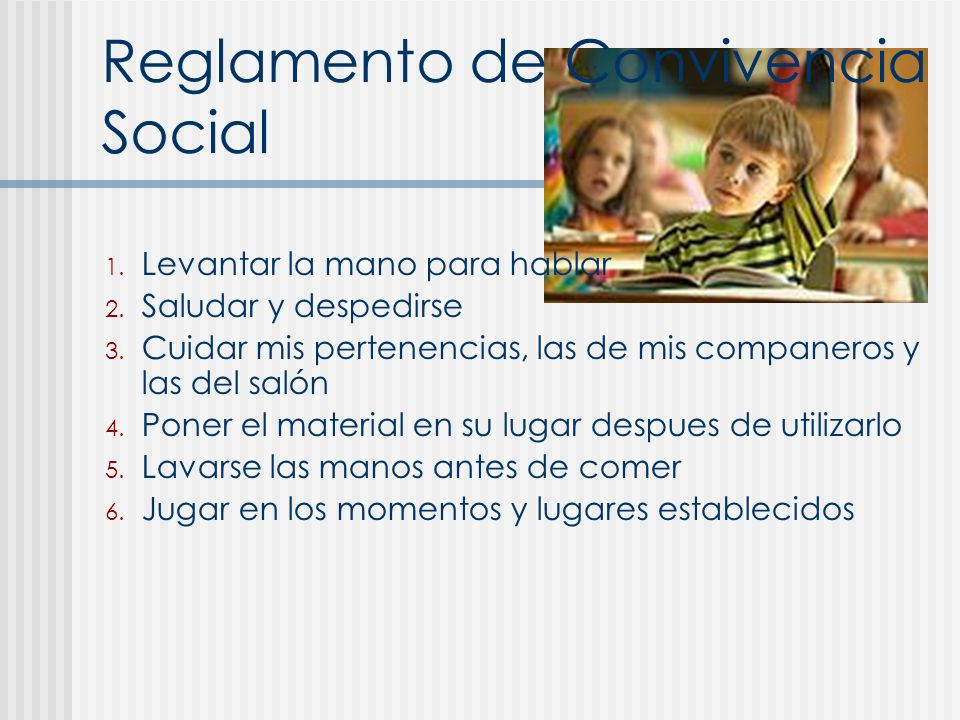 Reglamento de Convivencia Social
