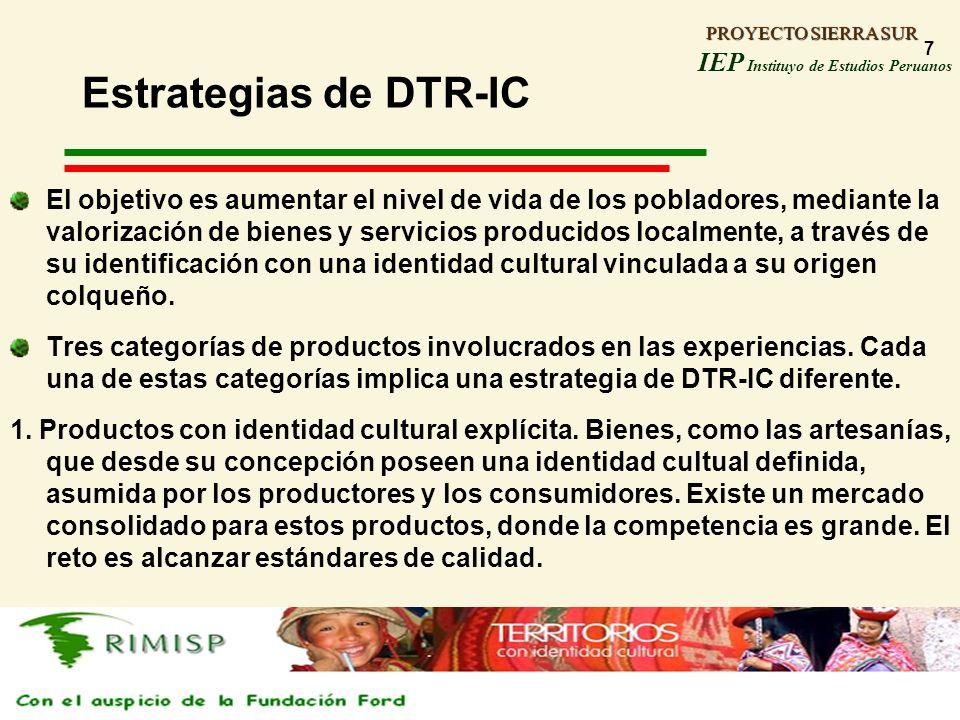 Estrategias de DTR-IC