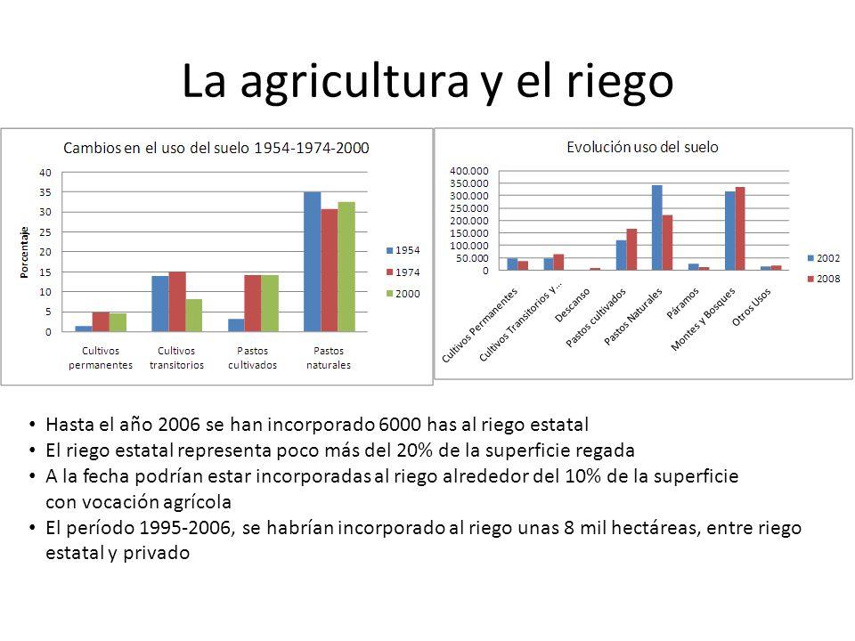 La agricultura y el riego