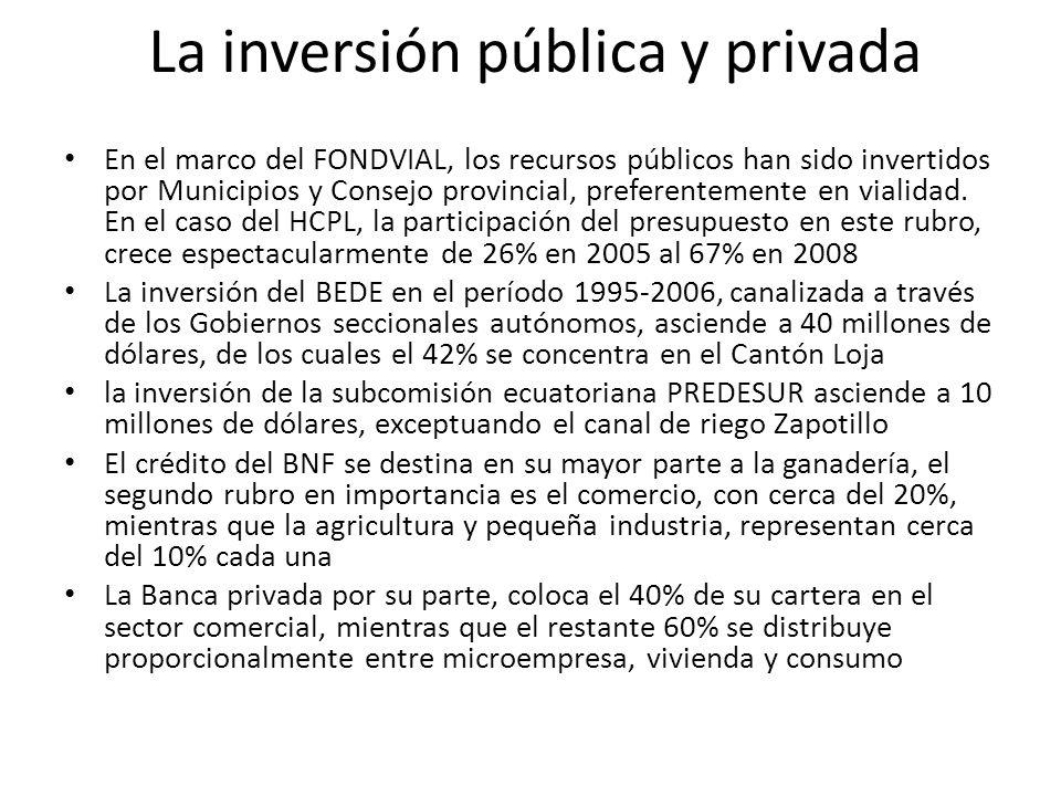 La inversión pública y privada