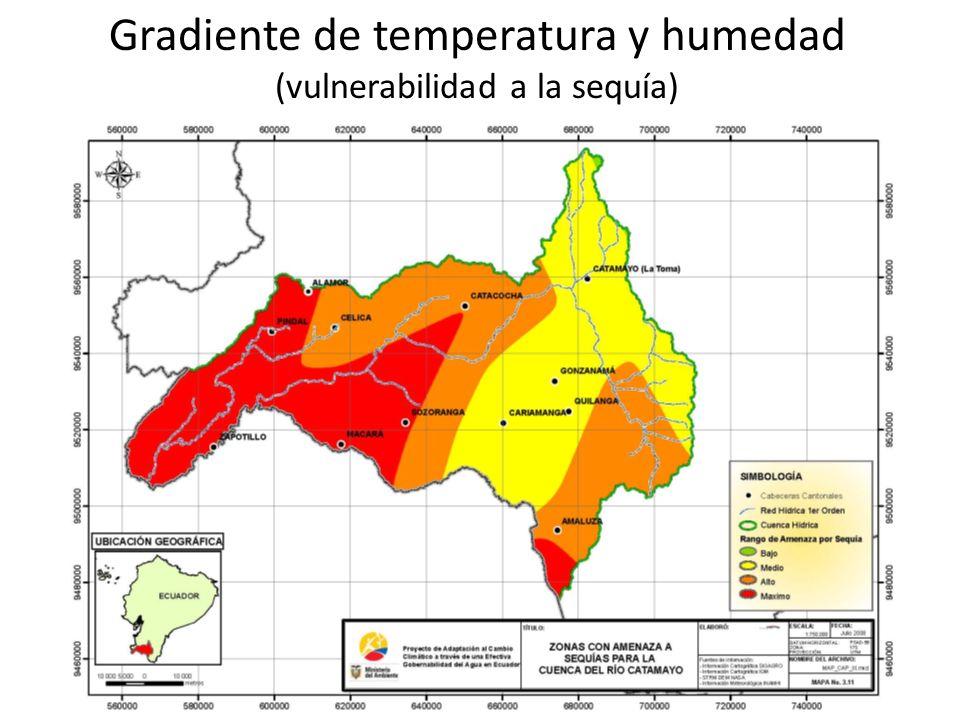 Gradiente de temperatura y humedad