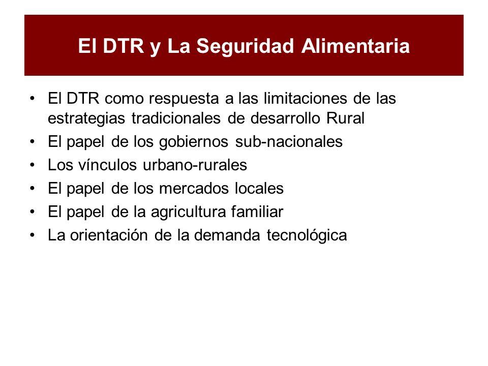 El DTR y La Seguridad Alimentaria