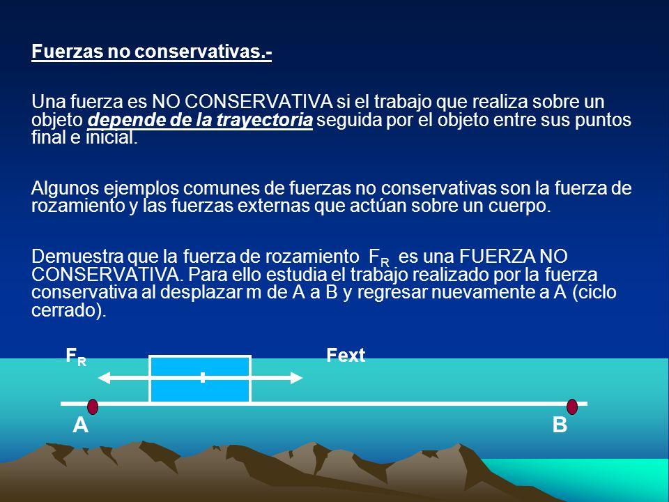 Fuerzas no conservativas.-