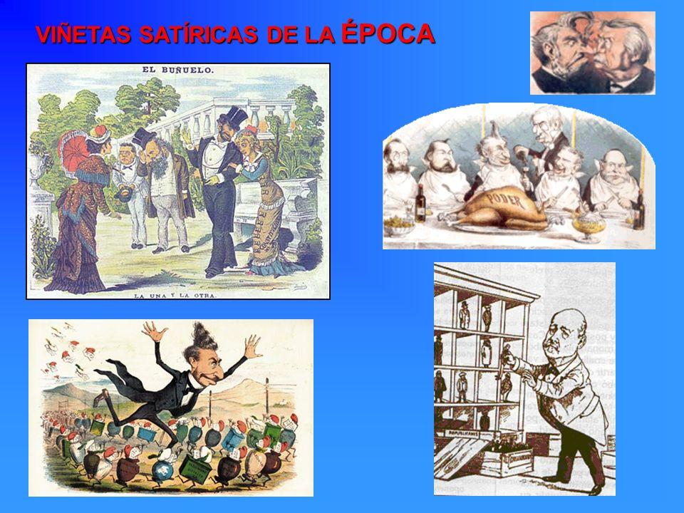 VIÑETAS SATÍRICAS DE LA ÉPOCA