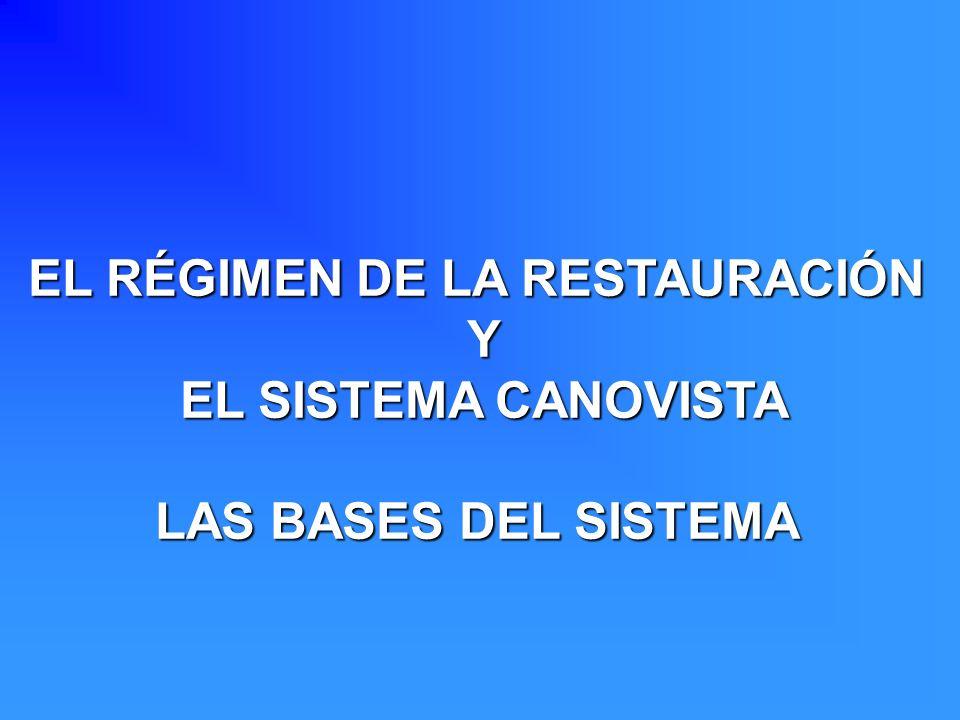 EL RÉGIMEN DE LA RESTAURACIÓN