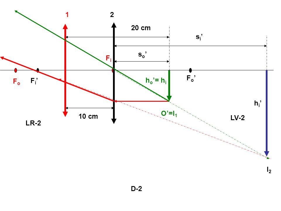 1 2 20 cm si' so' Fi Fo' Fo Fi' ho'= hi hi' O'=I1 10 cm LV-2 LR-2 I2 D-2