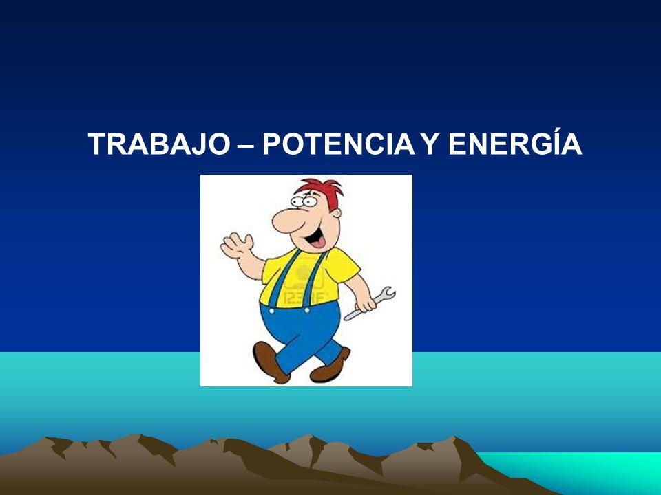 TRABAJO – POTENCIA Y ENERGÍA