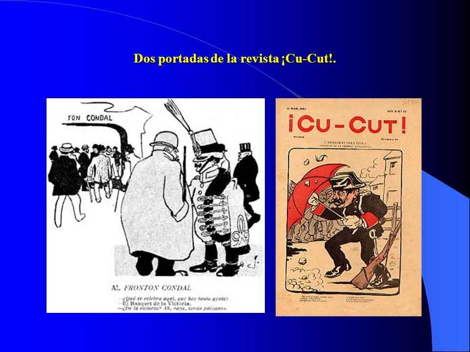Dos portadas de la revista ¡Cu-Cut!.