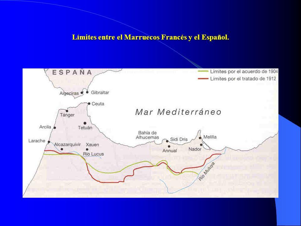 Límites entre el Marruecos Francés y el Español.