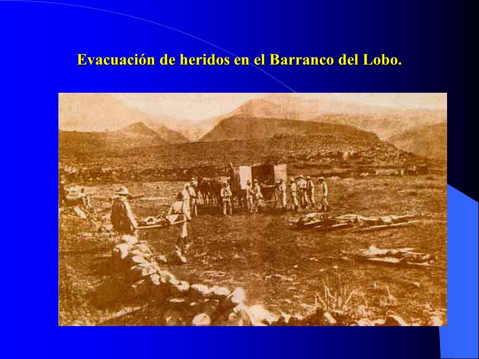 Evacuación de heridos en el Barranco del Lobo.