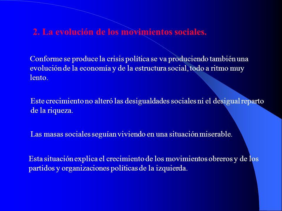 2. La evolución de los movimientos sociales.