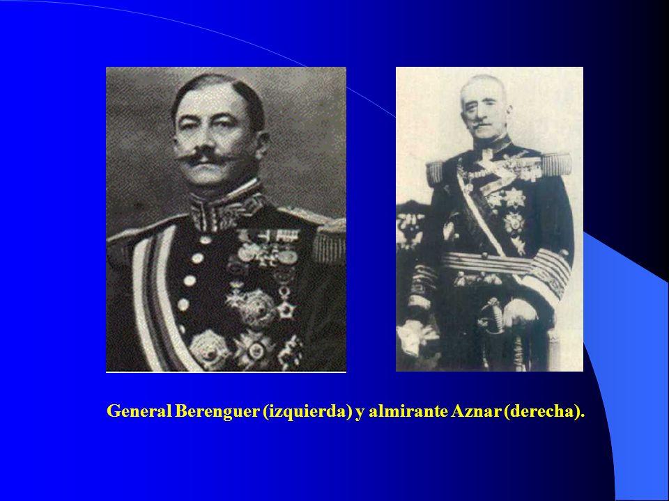 General Berenguer (izquierda) y almirante Aznar (derecha).