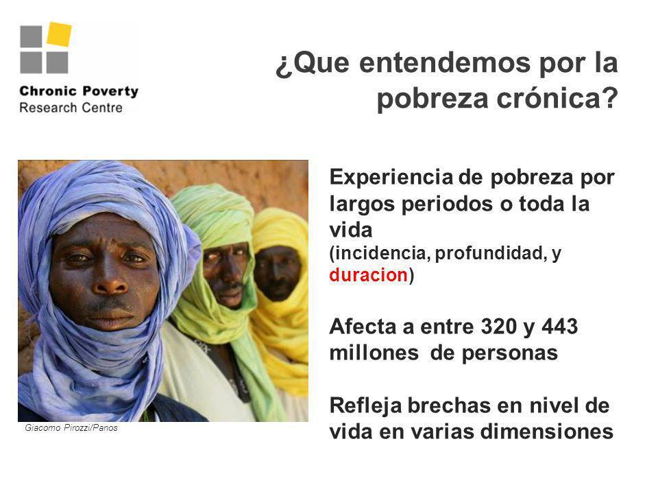 ¿Que entendemos por la pobreza crónica
